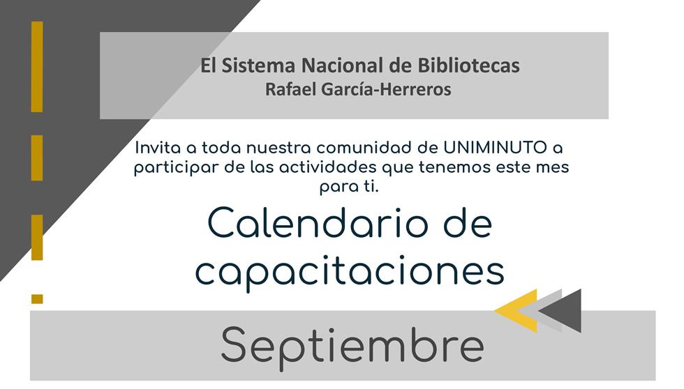 Capacitaciones Virtuales Sistema Nacional de Bibliotecas Rafael García Herreros